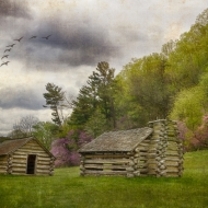 Huts in Valley Forge